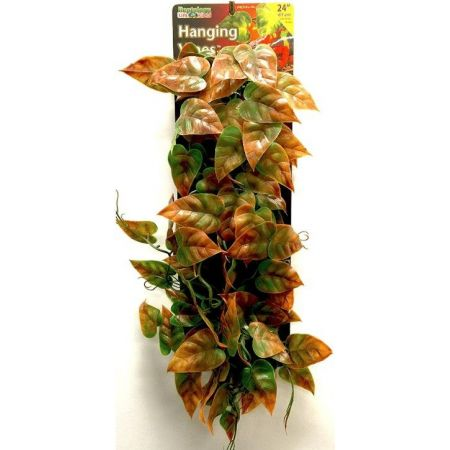 "Reptology Reptile Hanging Vine Green and Brown - 12"" Long"