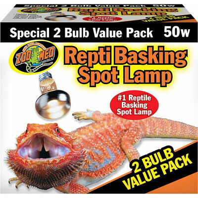 Zoo Med Repti Basking Spot Lamp Replacement Bulb - 50 Watts (2 Pack)
