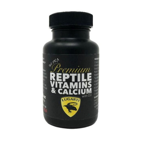 Lugarti Ultra Premium Reptile Vitamins & Calcium With D3 - 3 oz