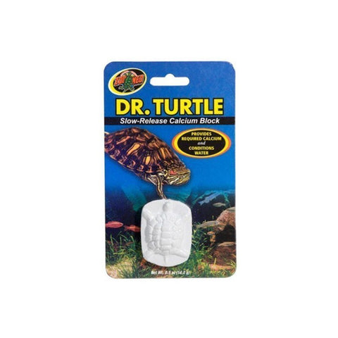 Zoo Med Dr. Turtle Slow Release Calcium Block - Treats up to 15 Gallons (.5 oz)