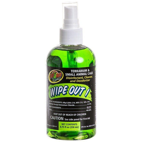 Zoo Med Wipe Out 1 - Small Animal & Reptile Terrarium Cleaner - 8.75 oz