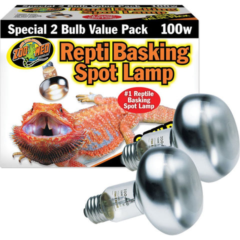Zoo Med Repti Basking Spot Lamp Replacement Bulb - 100 Watts (2 Pack)