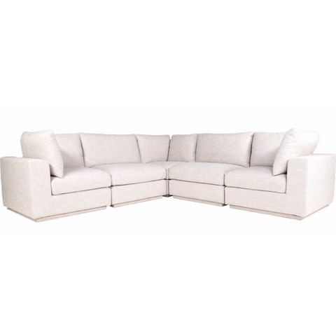 Justin Classic L Modular Sectional Taupe