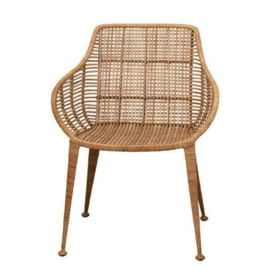 Hand-Woven Rattan Arm Chair