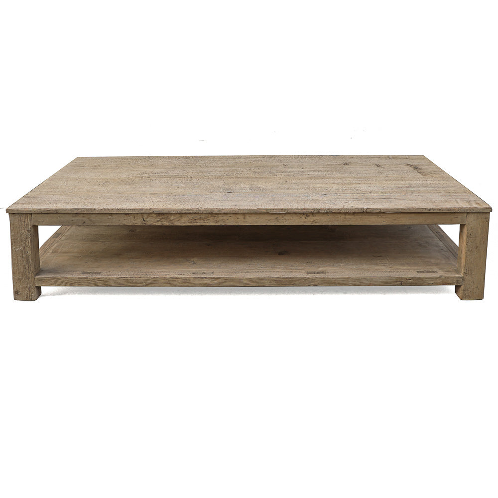 "Antique Wooden Coffee Table, 64""L x 28""W x 17""H"