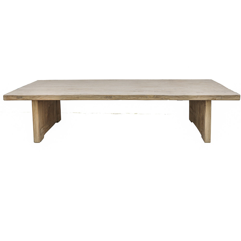 "Reclaimed Elm Coffee Table, 66""L x 32""W x 16""H"
