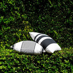 Charcoal Sunset Stripe Indoor/Outdoor Pillow