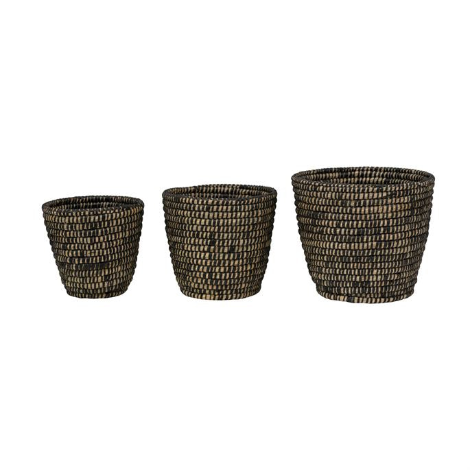 Hand Woven Grass Baskets, 3 sizes