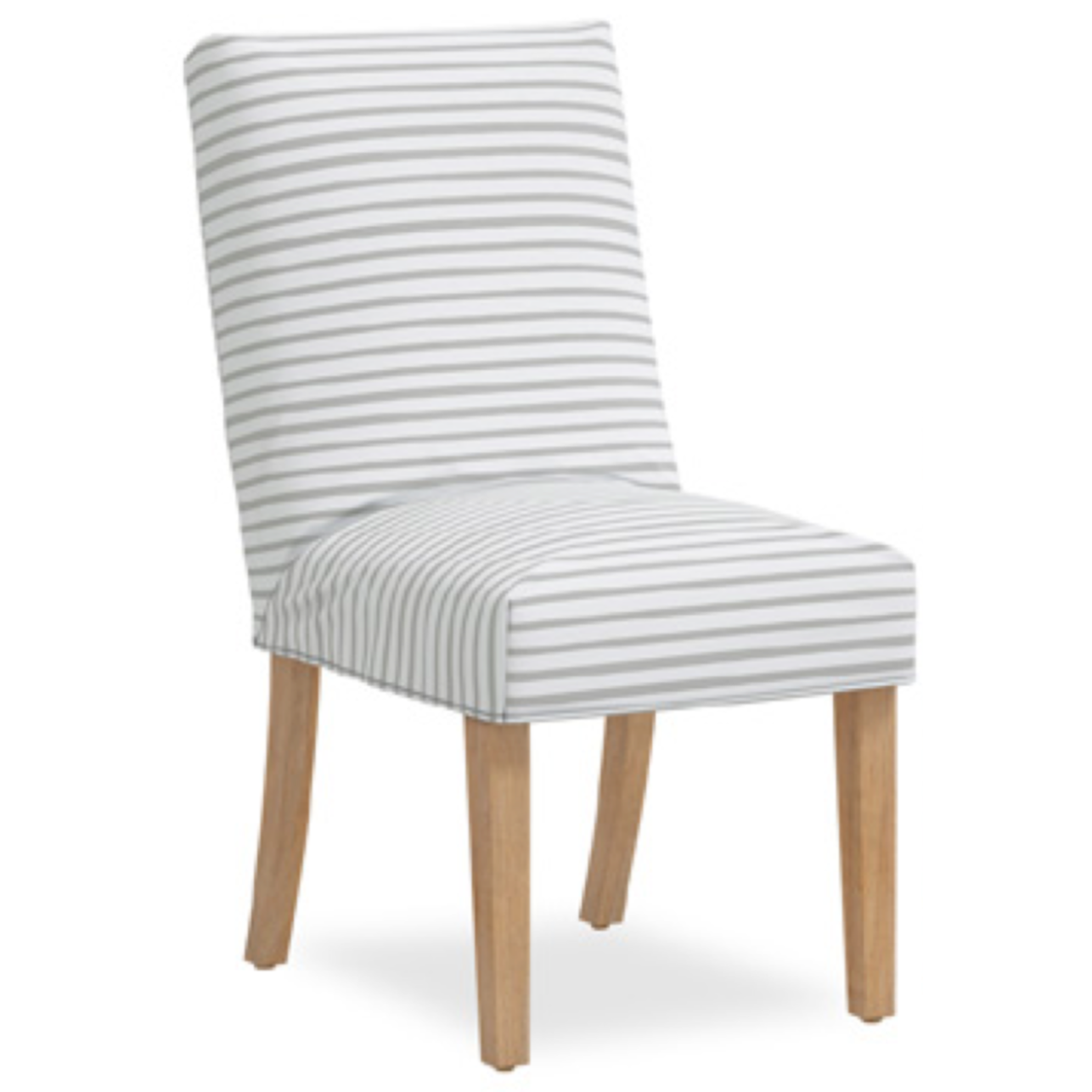 Jill Slipcover Dining Chair, Nautical Stripe Grey