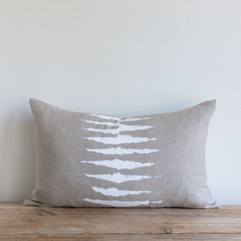 Wild One on Natural/White Lumbar Pillow