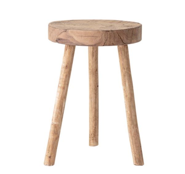 Reclaimed Round Wood Stool