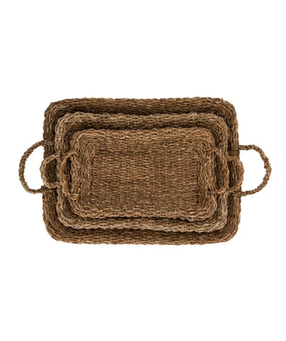 Seagrass Trays with Handles, 3 Sizes