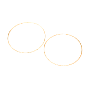 Large Gold Seamless Hoops