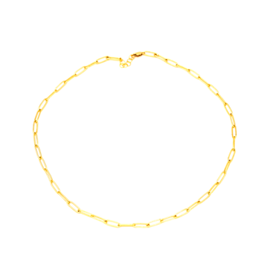 Lily Link Chain Necklace, 14""