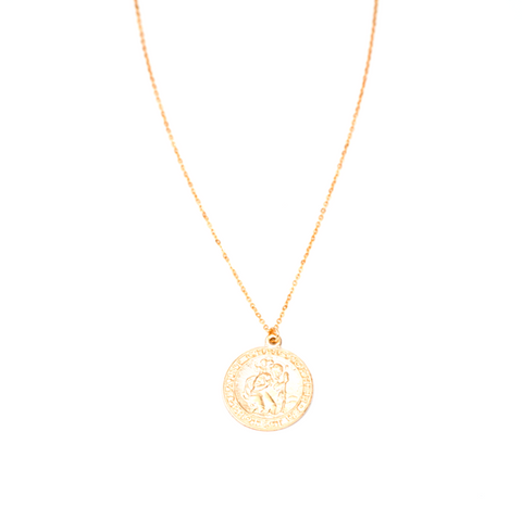 Saint Christopher Coin Necklace