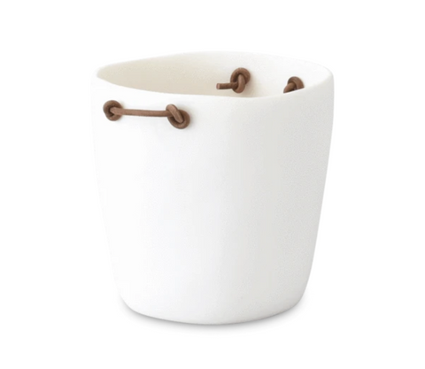 Champange Bucket with Leather Handles