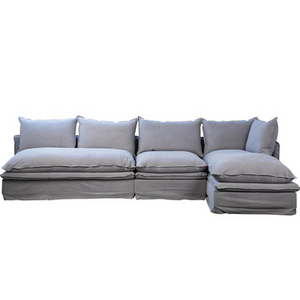 Gisborne L-Shape Sofa W/Right Chaise & Performance Fabric