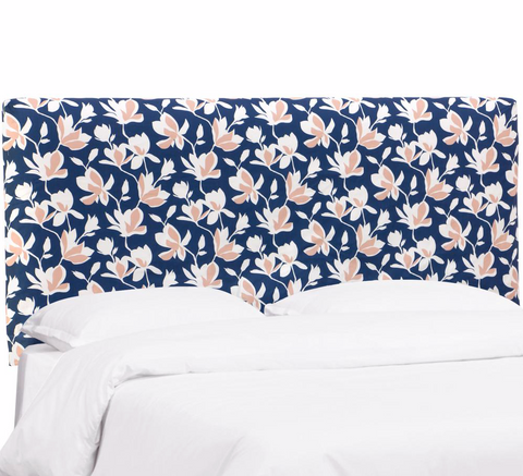 Abbie Bed, Floral Navy Blush, Full & Twin