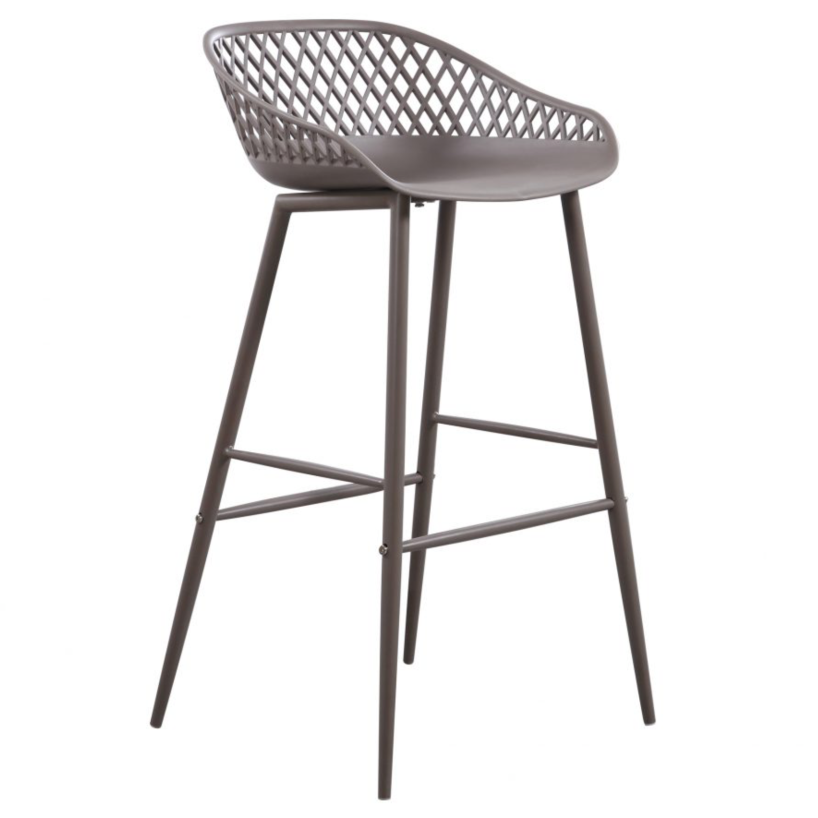 Piazza Indoor/Outdoor Barstool Grey - M2