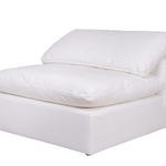 Clay Sectional Slipper Chair Livesmart Fabric White