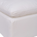 Clay Sectional Ottoman Livesmart Fabric White
