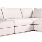 Justin Lounge Modular Sectional Taupe w/Moveable Ottoman
