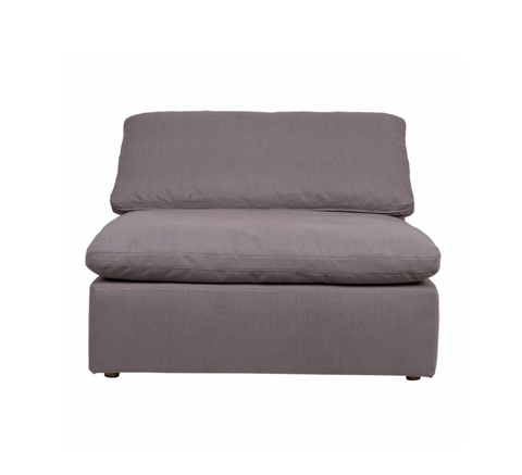 Clay Sectional Slipper Chair Livesmart Fabric Light Grey