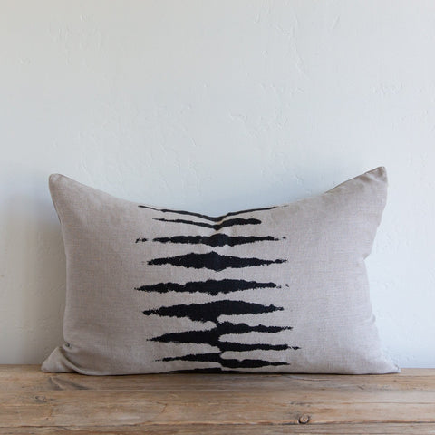 Wild One on Natural/Charcoal Lumbar Pillow