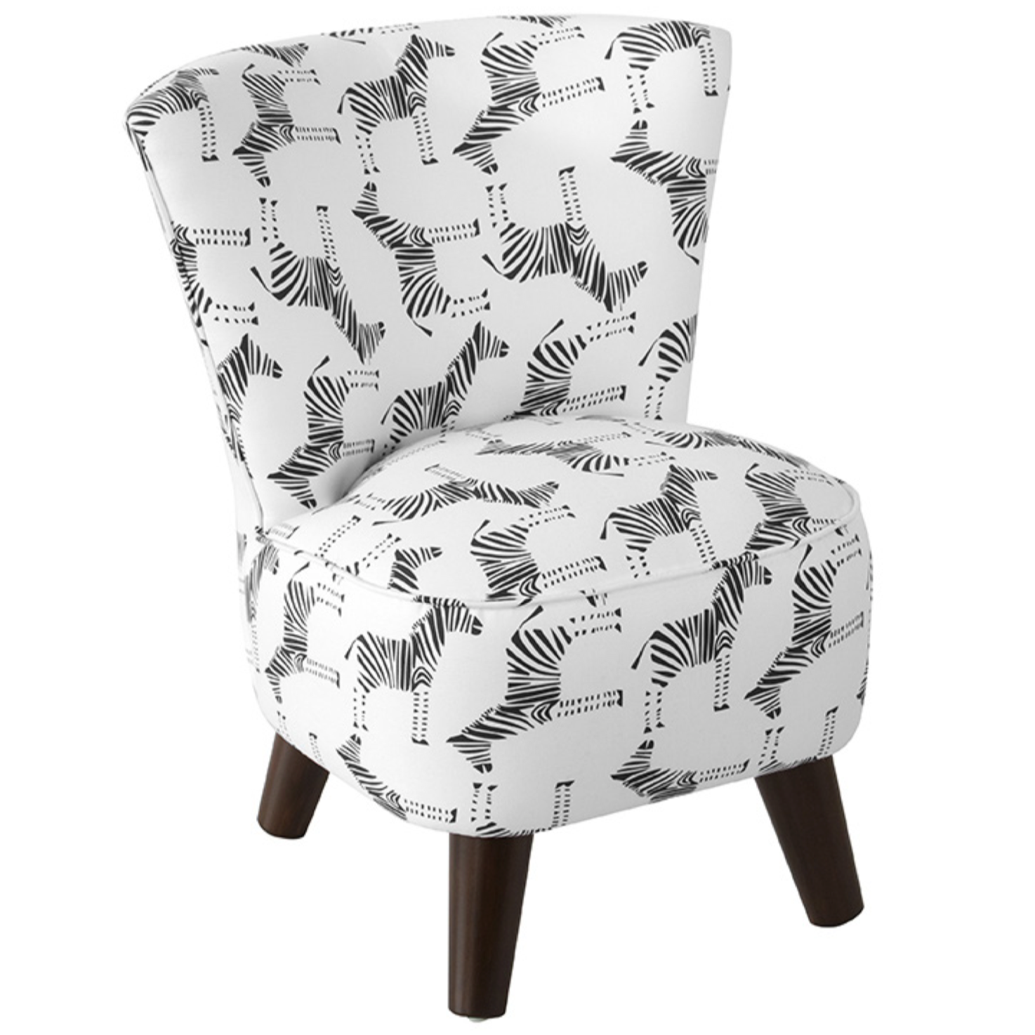Thalia Kids Chair, Block Zebra