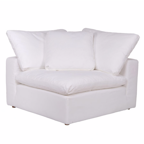 Clay Sectional Corner Chair Livesmart Fabric White