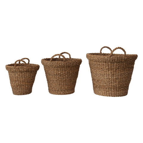 Seagrass Folding Balti Basket with Handle, 3 Sizes