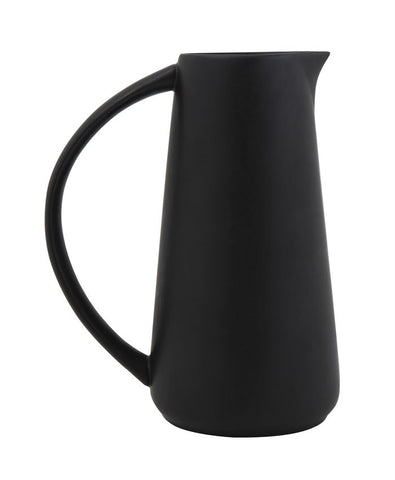 Stoneware Pitcher, Matte Black