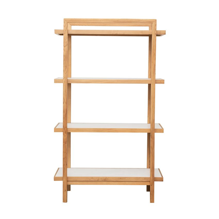 Oak 5-Tier Shelf With Reversible Shelves, Natural & White
