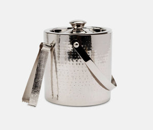 Winsford Shiny Nickel Ice Bucket with Tongs
