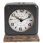Pewter Clock with Distressed Ivory Face