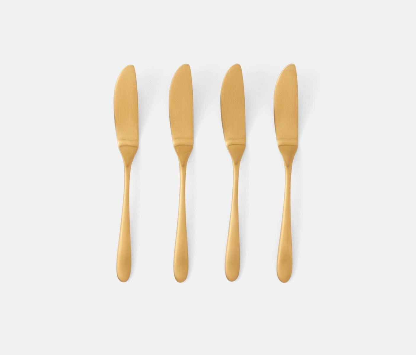 Alba, Gold Cheese Spreaders, Set of 4