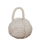 Rope Knot Doorstop, White