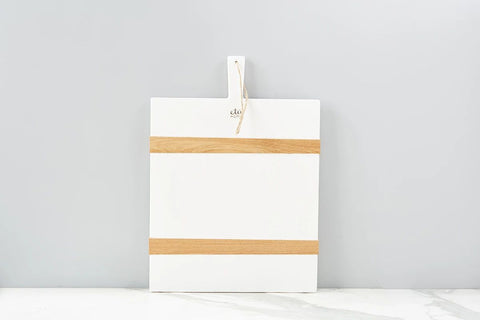 White Rectangle Mod Charcuterie Board, Medium