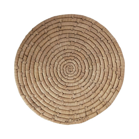 Round Hand-Woven Grass Placemat
