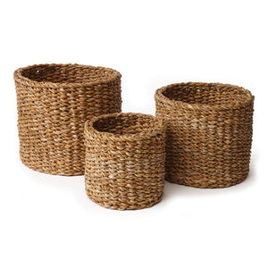 Seagrass Mini Round Baskets, 3 Sizes