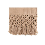 Cotton Slub Throw, Dusty Pink