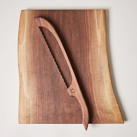 Walnut Board and Bow Set, Farmhouse Pottery