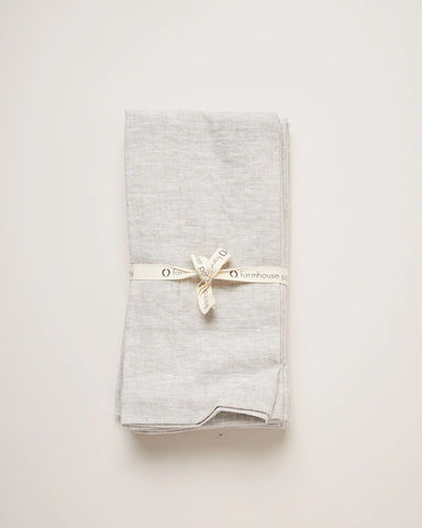 Washed Linen Napkins, Stone