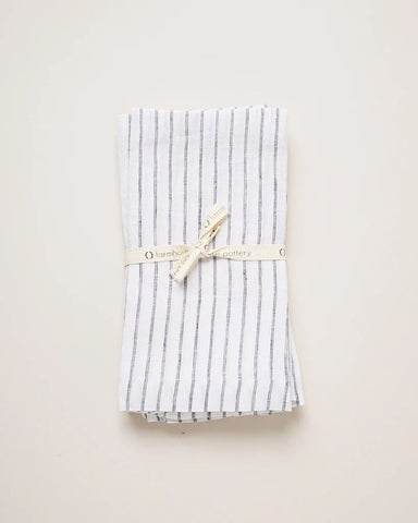 Washed Linen Napkins, Stripe