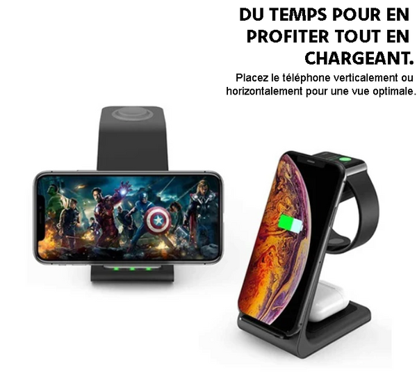 CHARGEPODS SANS FILS 3 EN 1 - IPHONE & ANDROID