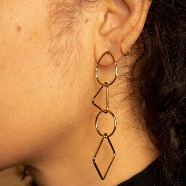 Geo-Tag Earrings