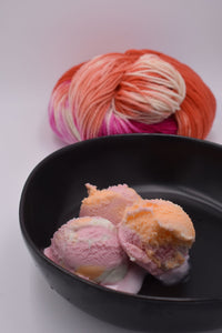 Rainbow Sherbert Ice Cream Yarn