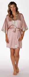CHR Garbo Silk Short Robe