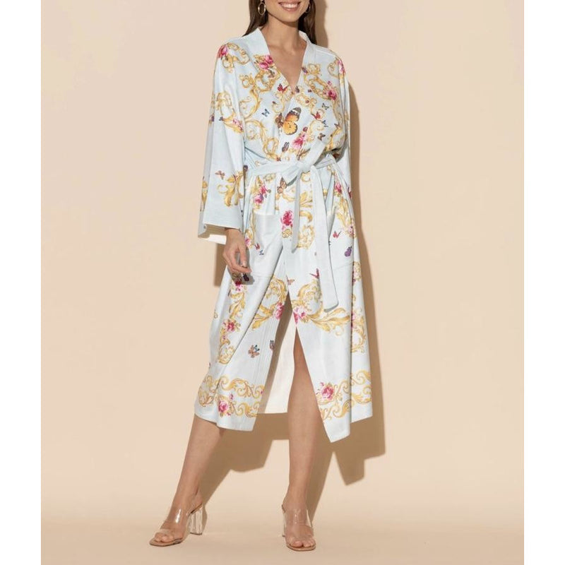 WU Wrap Up Butterfly Long Robe