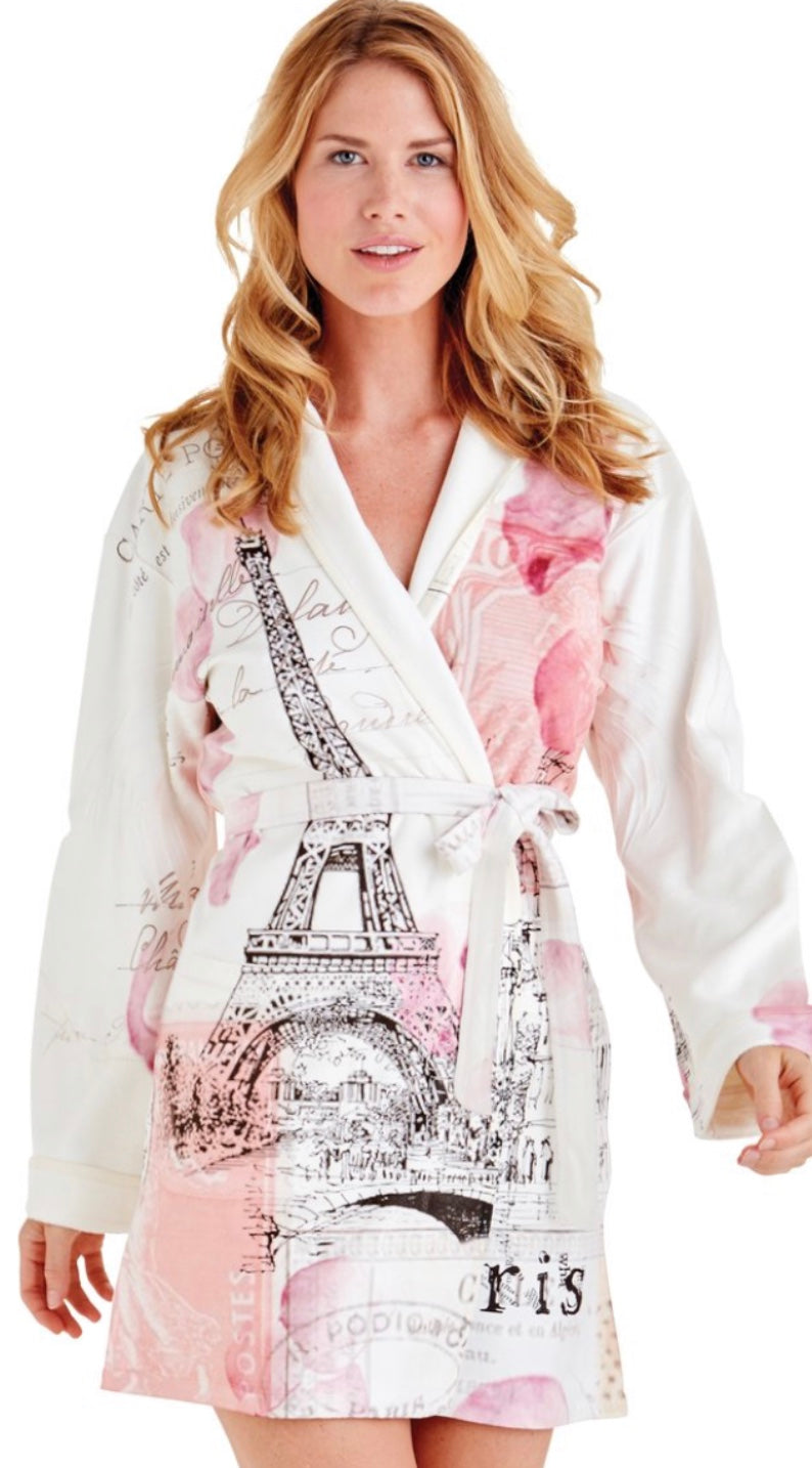 WU Wrap Up  Paris Love Note Short Robe
